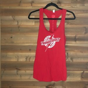 Next Level Apparel Tops - Ideal T Racing Red Tank Top